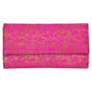 Azzra Pink Wallet Clutch For Women (code - Awwc0117-pink)