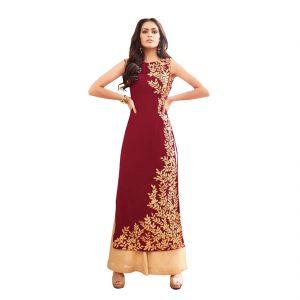 Bollywood replica designer wear - BOLLYWOOD REPLICA PARTY WEAR GRACEFUL RED GEORGETTE PARTY WEAR SALWAR KAMEEZ-  125F4F07DM