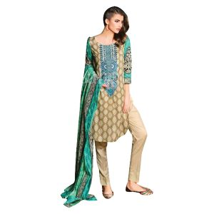 Uac-by 99pockets Yellow Pure Cotton Lawn Suit With Lawn Dupatta-(product Code-kk018)