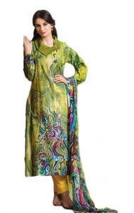Uac-by 99pockets Blue Pure Cotton Lawn Suit With Chiffon Dupatta-(product Code-kk040)