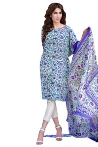 Uac-by 99pockets Blue Soya Silk Suit With Silk Dupatta-(product Code-kk041)