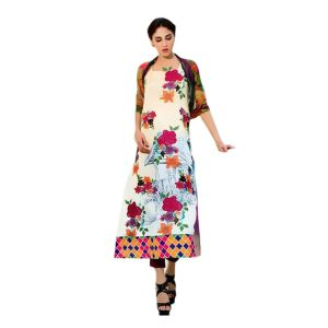 Uac-by 99pockets Offwhite Pure Cotton Lawn Suit With Silk Dupatta-(product Code-tb0010)