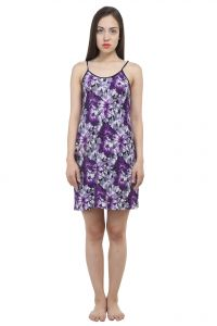 Uac-by 99pockets Cotton Purple Babydoll (free Size) (code - Uac-02)