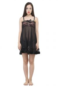 Uac-by 99pockets Net Black Babydoll (free Size) (code - Uac-08)