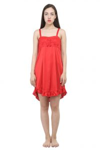 Uac-by 99pockets Net Red Babydoll (free Size) (code - Uac-10)