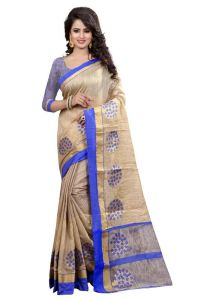 Sarees - Holyday Womens Banarasi Silk Thread Saree_ Light Blue (With Blouse)