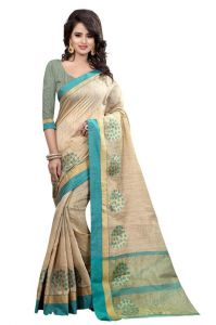 Holyday Womens Banarasi Silk Thread Saree_ Ice Blue (with Blouse)