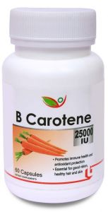 Biotrex Beta Carotene 25000iu Pro-vitamin A For Healthy Heart (60 Capsules)