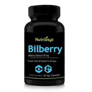Nutriosys Bilberry Extract - 275mg (90 Veg Capsules)