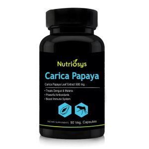 Nutriosys Carica Papaya Leaf Extract - 500mg (90 Veg Capsules)