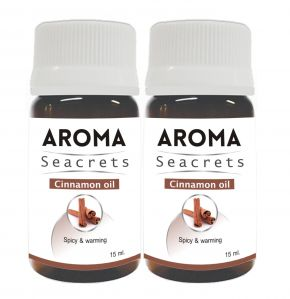 Aroma Seacrets Cinnamon Oil (15ml) - Pack Of 2