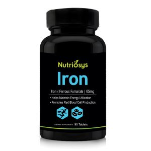 Nutriosys Iron Ferrous Fumarate 65mg (90 Tablets)