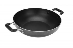 Bms Lifestyle Non-stick Aluminium Induction And Gas Compatible Black Kadai