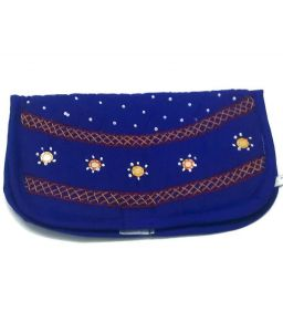 Clutches - irin Handcrafted Blue Cotton Clutch - (Product Code - IRCLCTMW01BLU)