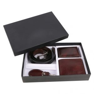Irin Geniune Leather Wallet, Belt, Card Holder And Key Chain Gift Set For Men