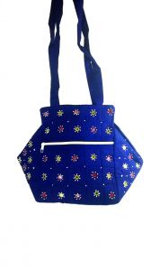 Irin Handcrafted Blue Royal Design Cotton Shoulder Bag