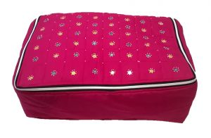 Irin Handcrafted Pink Cotton Saree Cover