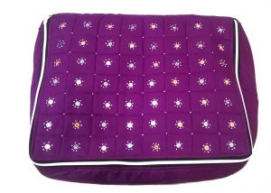 Irin Handcrafted Purple Cotton Saree Cover