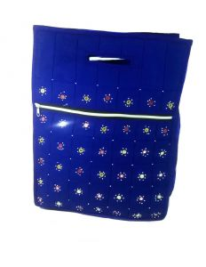 Irin Handcrafted Royal Blue Cotton Shopping Bag