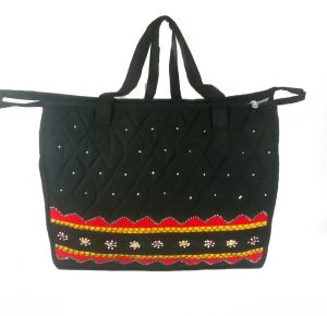 Irin Handcrafted Black Cotton Shopping Bag