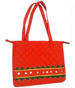 Irin Handcrafted Orange Cotton Shopping Bag