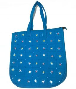 Irin Handcrafted Blue Cotton Shopping Bag