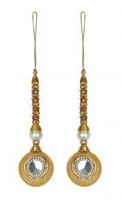 Latkan lace - Aarti Creation Handmade Golden Latkan(06)