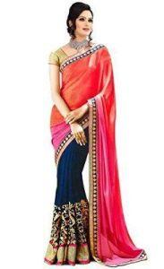 Kalazone Women's Clothing - Kazipu Womens Multi Colour New Designer Padding 60gm Georgette Saree With Blouse Piece (code - Pfs1094)