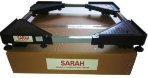 Sarah,Spice Furniture - SARAH Adjustable Refrigerator & Top Load Automatic Washing Machine Trolley