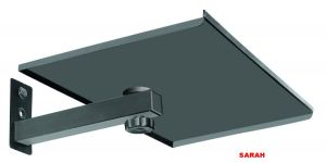 Sarah Steel Swirl Type Set Top Box Wall Mount Bracket - With Roating Base - 102