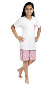 ORANGES AND LEMONS Pink Chicks Print Cotton Fabric Tshirt & Short Set For Girls