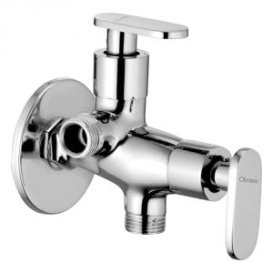 Oleanna Metro Brass 2 In1 Angle Valve Silver Taps & Faucets