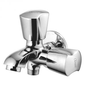 Oleanna Classic Brass 2 In1 Bib Cock Silver Taps & Faucets