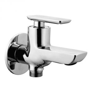 Oleanna Golf Brass Single Lever 2in1 Bib Cock Silver Taps & Faucets
