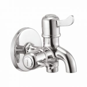 Oleanna Magic Brass 2 In1 Bib Cock Silver Taps & Faucets