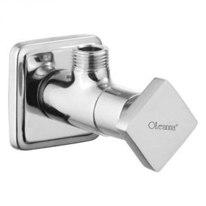 Oleanna Melody Brass Angle Cock Silver Taps & Fittings