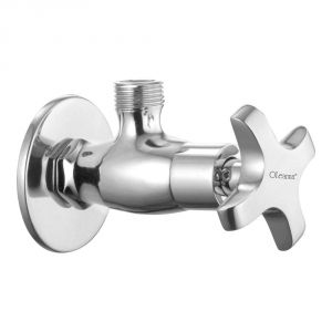Oleanna Salsa Brass Angle Cock Silver Taps & Fittings