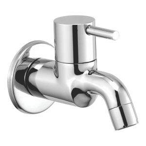 Bath taps - OLEANNA FLORA BRASS BIB COCK SILVER Taps & Faucets