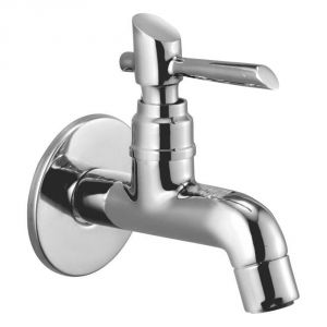 Oleanna Fancy Brass Bib Cock Silver Taps & Faucets