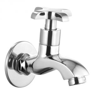 Oleanna Salsa Brass Bib Cock Silver Taps & Faucets