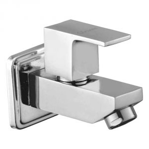 Oleanna Square Brass Bib Cock Silver Taps & Faucets