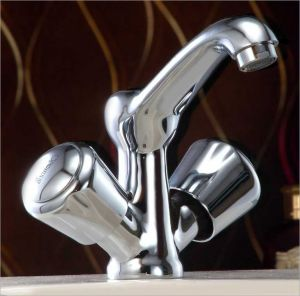 Bath taps - OLEANNA ROYAL BRASS CENTER HOLE BASIN MIXER SILVER Water Mixer