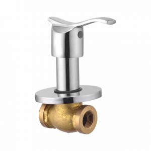 Oleanna Angel Brass Concealed Stop Cock Silver Taps & Fittings