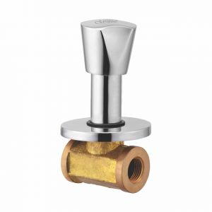 Oleanna Classic Brass Concealed Stop Cock Silver Taps & Fittings