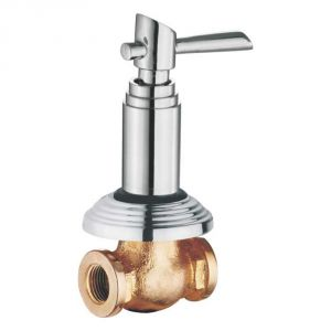 Oleanna Fancy Brass Concealed Stop Cock Silver Taps & Fittings