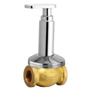 Oleanna Metro Brass Concealed Stop Cock Silver Taps & Fittings