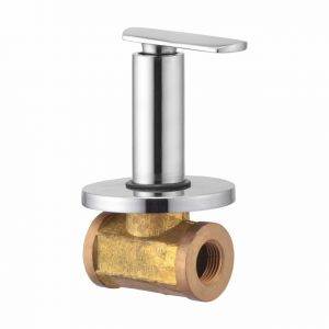 Oleanna Speed Brass Concealed Stop Cock Silver Taps & Fittings
