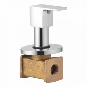 Oleanna Square Brass Concealed Stop Cock Silver Taps & Fittings