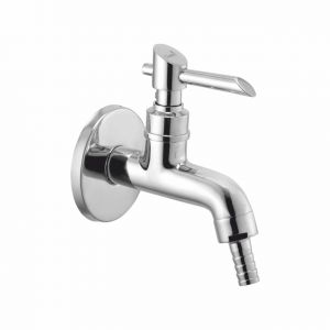 Oleanna Fancy Brass Nozzle Bib Cock Silver Taps & Faucets