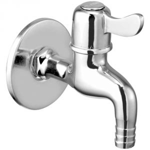 Oleanna Magic Brass Nozzle Bib Cock Silver Taps & Faucets